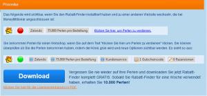 Screenshot Moneymillionär Rabattfinder