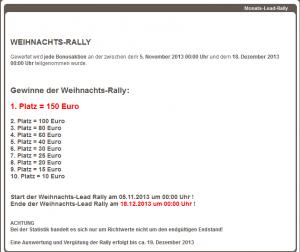 Bonus-Bunny.de Lead-Rally