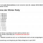 Winter-Rally startet bei Bonus-Bunny.de
